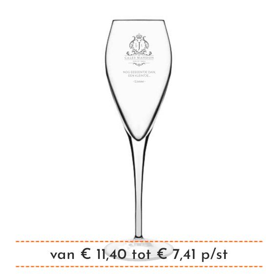 Champagneglas graveren