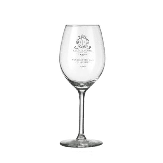 Gegraveerd Wijnglas
