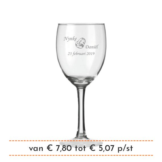 Wijnglas Graveren
