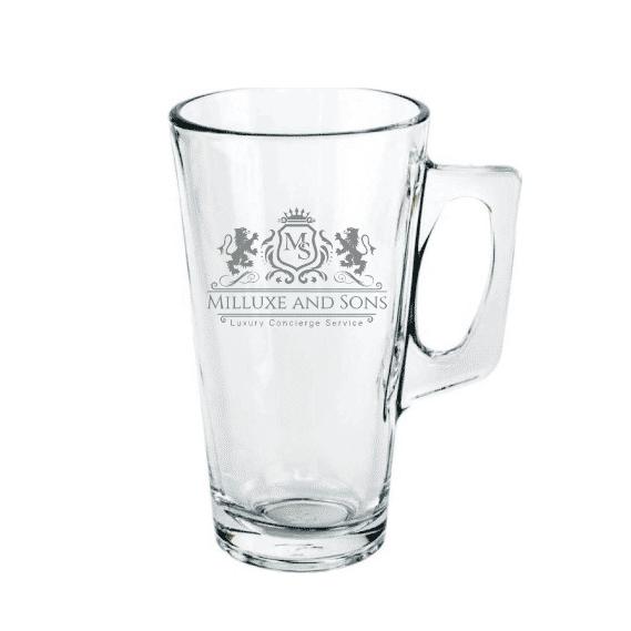 Gegraveerd Latte Machiato glas