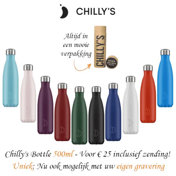 Chilly Bottle 500ml - graveren / bedrukken